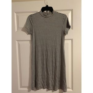 White and Gray Striped Dress